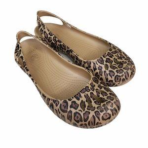 Crocs Leopard Print Flats